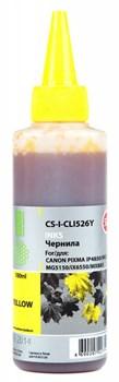 Чернила Cactus CS-I-CLI526Y желтый для Canon PIXMA iP4850, MG5250, MG5150, iX6550 (100 мл) - фото 6425