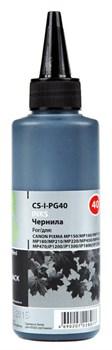 Чернила Cactus CS-I-PG40 черный для Canon PIXMA MP150, MP160, MP170, MP180, MP210 (100 мл) - фото 6473