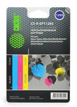 Картридж струйный Cactus CS-R-EPT1295 черный, желтый, голубой, пурпурный набор карт. для Epson StOf B42, BX305, BX305F (14.4мл) - фото 6494