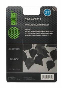 Заправочный набор Cactus CS-RK-C8727 черный для HP DeskJet 3320, 3325, 3420, 3425, 3520, 3535; OfficeJet 4212 (2*30ml) - фото 6498