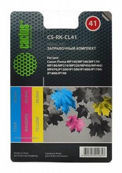 Заправочный набор Cactus CS-RK-CL41 многоцветный для Canon MP150, MP160, MP170, MP180, MP210 (3*30ml) - фото 6545