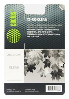 Универсальная промывочная жидкость CACTUS CS-RK-Clean для прочистки картриджей, 2x30 мл - фото 6550