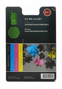 Заправочный набор Cactus CS-RK-CLI451 многоцветный для Canon MG 6340, 5440, IP7240 (4*30ml) - фото 6552