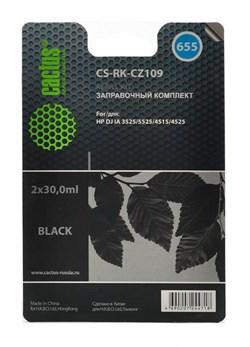 Заправочный набор Cactus CS-RK-CZ109 черный 60мл для HP DJ IA 3525, 5525, 4515, 4525 - фото 6557