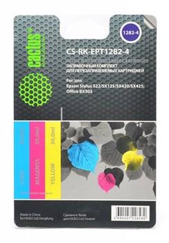 Заправка для ПЗК Cactus CS-RK-EPT1282-4 цветной Epson Stylus S22 (3*30ml) - фото 6593