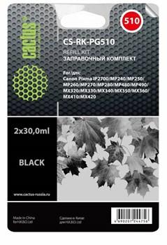 Заправочный набор Cactus CS-RK-PG510 черный Canon MP240,  MP250, MP260 (2x30 мл.) - фото 6609