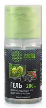 Чистящий набор (салфетки + гель) Cactus CS-S3004 для экранов и оптики 1 шт (20 x 23 см; 200 мл) - фото 6674