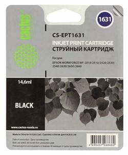 Струйный картридж Cactus CS-EPT1631 (16XL) черный для Epson WF-2010, 2510, 2520, 2530, 2540, 2630, 2650, 2660 (14,6 мл.) - фото 6814