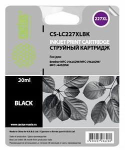 Струйный картридж Cactus CS-LC227XLBK (LC227XL BK) черный (30 мл) для Brother DCP-J4120DW, MFC-J4420DW, J4620DW - фото 6821