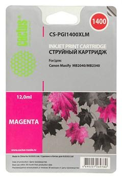 Струйный картридж Cactus CS-PGI1400XLM (PGI-1400XL M) пурпурный для Canon MAXIFY MB2040, MB2140, MB2340, MB2740 (12 мл) - фото 6830