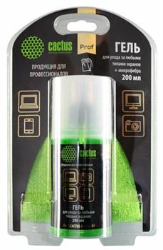 Чистящий набор (салфетки + гель) Cactus CS-S3004BL (S3004BL)  для экранов и оптики блистер 1 шт (25 х 25 см; 200 мл) - фото 6882