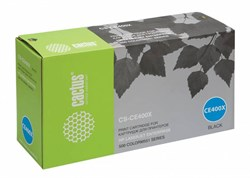 Лазерный картридж Cactus CS-CE400X (HP 507X) черный увеличенной емкости для принтеров HP Color LaserJet M551 (Ent 500 color), M551dn Ent (CF082A), M551n Ent, M551xh Ent, M570 (Pro 500 color MFP), M570dn (Pro 500 color MFP) (11'000 стр.) - фото 7089