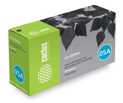 Лазерный картридж Cactus CS-CE505AS(HP 05A) черный для HP LaserJet P2030, P2035, P2035n, P2050, P2055, P2055d, P2055dn, P2055X (2'300 стр.) - фото 7126