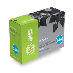 Лазерный картридж Cactus CS-CC364A (HP 64A) черный для HP LaserJet P4010, P4014, P4014dn (CB512A), P4014n, P4015, P4015dn, P4015n, P4015tn, P4015x, P4510, P4515, P4515n, P4515tn, P4515x, P4515xm (10'000 стр.) - фото 7222