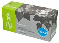 Лазерный картридж Cactus CS-CE260X (HP 649X) черный увеличенной емкости для HP Color LaserJet CP4520, CP4525, CP4525dn, CP4525n, CP4525xh (17'000 стр.) - фото 7335