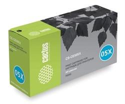 Лазерный картридж Cactus CS-CE505X (HP 05X) черный увеличенной емкости для HP LaserJet P2050, P2055, P2055d, P2055dn, P2055x (6'500 стр.) - фото 7339