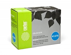 Лазерный картридж Cactus CS-C4127X (HP 27X) черный увеличенной емкости для HP LaserJet 4000, 4000n, 4000t, 4000tn, 4000se, 4050, 4050n, 4050t, 4050tn, 4050se (10'000 стр.) - фото 7423