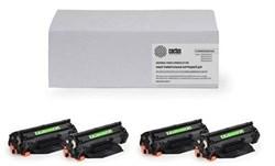 Комплект картриджей Cactus CS-Q6470A-Q6471A-Q6472A-Q6473A для принтеров HP Color LaserJet 3600, 3600dn, 3600n - фото 7484