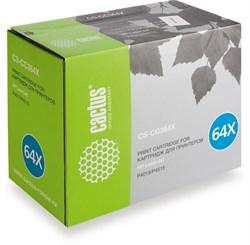 Лазерный картридж Cactus CS-CC364X (HP 64X) черный увеличенной емкости для HP LaserJet P4010, P4015, P4015dn, P4015n, P4015tn, P4015x, P4510, P4515, P4515n, P4515tn, P4515x, P4515xm (24'000 стр.) - фото 7539