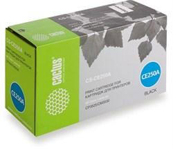 Лазерный картридж Cactus CS-CE250A (HP 504A) черный для принтеров HP  Color LaserJet CM3530, CM3530fs MFP, CP3520, CP3525, CP3525dn, CP3525x (5'000 стр.) - фото 7561