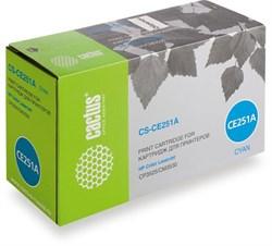 Лазерный картридж Cactus CS-CE251A (HP 504A) голубой для принтеров HP Color LaserJet CM3530, CM3530fs MFP, CP3520, CP3525, CP3525dn, CP3525x (7'000 стр.) - фото 7566