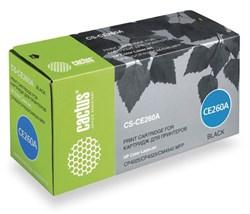 Лазерный картридж Cactus CS-CE260A (HP 647A) черный для HP Color LaserJet CM4540 MFP, CM4540f MFP, CM4540fskm MFP, CM4540mfp, CP4020, CP4025, CP4025dn, CP4025n, CP4520, CP4525, CP4525dn, CP4525n, CP4525xh (8'500 стр.) - фото 7578