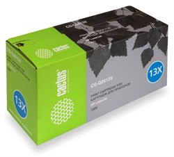 Лазерный картридж Cactus CS-Q2613X (HP 13X) черный увеличенной емкости для HP LaserJet 1300, 1300N, 1300Xi (4'000 стр.) - фото 7649