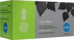Лазерный картридж Cactus CS-CF360X (HP 508X) черный увеличенной емкости для HP Color LaserJet M552dn, M553dn, M553n, M553x (12'500 стр.) - фото 7709
