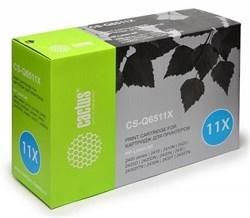 Лазерный картридж Cactus CS-Q6511X (HP 11X) черный увеличенной емкости для HP LaserJet 2400 series, 2410, 2410n, 2420, 2420d, 2420dn, 2420n, 2430, 2430dtn, 2430n, 2430t, 2430tn (12'000 стр.) - фото 7819