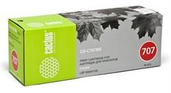 Лазерный картридж Cactus CS-C707BK (9424A004) черный для Canon LBP 5000 i-Sensys Laser Shot, 5100 i-Sensys (2'500 стр.) - фото 7973