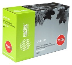 Лазерный картридж Cactus CS-C710H (Cartridge 710H) черный увеличенной емкости для Canon LBP 3460 i-Sensys Laser Shot (12'000 стр.) - фото 8122
