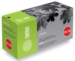 Лазерный картридж Cactus CS-FX10 (FX-10) черный для Canon Fax L100 i-Sensys, L140 i-Sensys, imageClass MF4150, MF4690, LaserBase MF4010 i-Sensys, MF4120 i-Sensys, MF4350 i-Sensys, MF4380 i-Sensys, MF4660 i-Sensys (2'000 стр.) - фото 8164