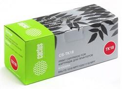 Лазерный картридж Cactus CS-TK18 (TK-18) черный для принтеров Kyocera Mita FS1018, 1018 MFP, 1020, 1020d, 1020dn, 1020dt, 1020dtn, 1118 MFP, 1118f MFP, 1118fpd MFP, Olivetti d-Copia 18mf, Utax CD1018 (7'200 стр.) - фото 8446