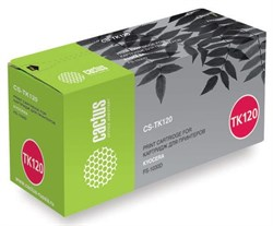 Лазерный картридж Cactus CS-TK120 (TK-120) черный для принтеров Kyocera Mita FS1030, 1030d, 1030dn (7'200 стр.) - фото 8494