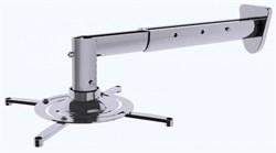 Кронштейн для проектора Cactus CS-VM-PR05BL-AL серебристый (до 10 кг.) настенный и потолочный, поворот и наклон - фото 8784
