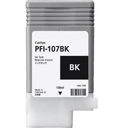 Струйный картридж Cactus CS-PFI107BK (PFI-107) черный для Canon ImagePrograf iPF670, iPF670 MFP L24, iPF680, iPF681, iPF685, iPF686, iPF770, iPF770 MFP L36, iPF780, iPF780 MFP M40, iPF781, iPF785, iPF785 MFP M40, iPF786 (130 мл) - фото 8821