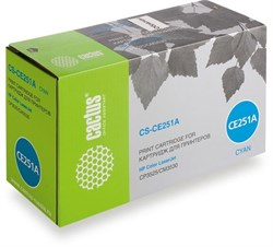 Лазерный картридж Cactus CS-CE251AV (HP 504A) голубой для HP Color LaserJet CM3530, CM3530fs, CM3530fs MFP, CP3520, CP3525, CP3525dn (7'000 стр.) - фото 8990