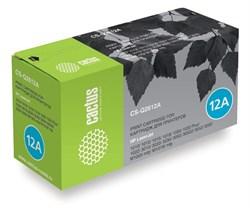 Лазерный картридж Cactus CS-Q2612A (HP 12A) черный для HP LaserJet 1010, 1012, 1015, 1018, 1020, 1020 Plus, 1022, 1022n, 1022nw, 3015, 3020, 3030, 3050, 3050z, 3052, 3055, M1005 MFP, M1300 MFP, M1319 (2'000 стр.) - фото 8995
