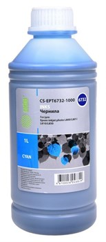Чернила Cactus CS-EPT6732-1000 голубой для Epson L800, L805, L810, L850, L1800 (1'000 мл) - фото 9262
