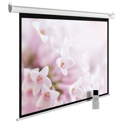 """Экран Cactus MotoExpert CS-PSME-240X240-WT 130"""" 1:1 настенно-потолочный белый, моторизованный привод (240x240 см.) - фото 9322"""