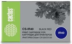 Картридж ленточный Cactus CS-IR40 черный, красный для Citizen IR40T, IR50, CX123, CX120 - фото 9367