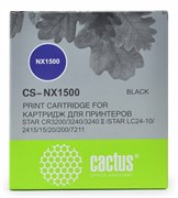 Матричные картриджи Cactus CS-NX1500 черный для Star NX-1500, 24xx, LC-8211