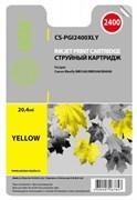 Струйный картридж Cactus CS-PGI2400XLY (PGI-2400XL Y) желтый для Canon MAXIFY iB4040, iB4140, MB5040, MB5140, MB5340, MB5440 (20,4 мл)