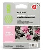 Струйный картридж Cactus CS-BCI6PM (4710A002) светло пурпурный для Canon S800, S820, S900, S9000, i550, i560, i860, i865, i905D, i950S, i960x, i965, i990, i9100, i9950, JX500, MP750, MP760, iP600D, iP3000, iP600D, iP8500, BJC-8200 (270 стр.)