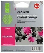 Струйный картридж Cactus CS-CLI426M (4558B001) пурпурный для Canon Pixma iP4840, iP4940, iX6450, MG5140, MG5240, MG5340, MG6140, MG6240, MG8140, MG8240, MX714, MX884, MX894 (450 стр.)
