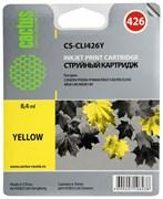 Струйный картридж Cactus CS-CLI426Y (4559B001) желтый для Canon Pixma iP4840, iP4940, iX6450, MG5140, MG5240, MG5340, MG6140, MG6240, MG8140, MG8240, MX714, MX884, MX894 (450 стр.)