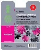 Струйный картридж Cactus CS-CLI8M (CLI-8M) пурпруный для Canon Pixma iP4200, iP4300, iP4500, iP5100, iP5200, iP5300, iP6600, iP6700, iP7500, iP7600, MP500, MP530, MP600, MP800, MP810, MP830, MP950, MX850, PRO-9000 (12 мл)