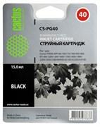 Струйный картридж Cactus CS-PG40 (0615B025) черный для Canon Pixma MP150, MP160, MP170, MP180, MP210, MP220, MP450, MP460, MP470, iP1200, iP1300, iP1600, iP1700, iP1800, iP1900 (335 стр.)
