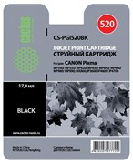 Струйный картридж Cactus CS-PGI520BK (PGI-520Bk) черный для Canon Pixma iP3600, iP4600, iP4600x, iP4700, MP540, MP540x, MP550, MP560, MP620, MP620B, MP630, MP640, MP660, MP980, MP990, MX860, MX870 (16 мл)