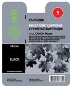 Струйный картридж Cactus CS-PGI5BK (0628B024) черный для Canon Pixma iP3300, iP3500, iP4200, iP5200, iP5200r, iP5300, iP7500, iP7600, iX4000, iX5000, MP500, MP510, MP520, MP530, MP600, MP600R, MP800,MP950, MP960, MP970, MX700, MX850 (360 стр.)